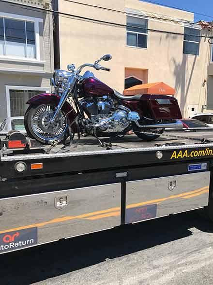 motorcycle towing service | San Francisco Bay Area Towing