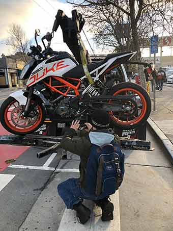 motorcycle engine breakdown in San Francisco California
