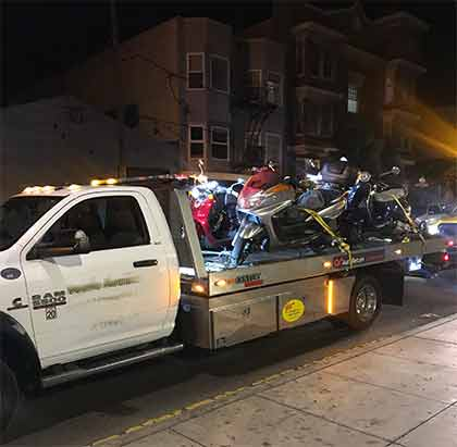 Motorcycle Flatbed Towing | San Francisco Bay Area Towing