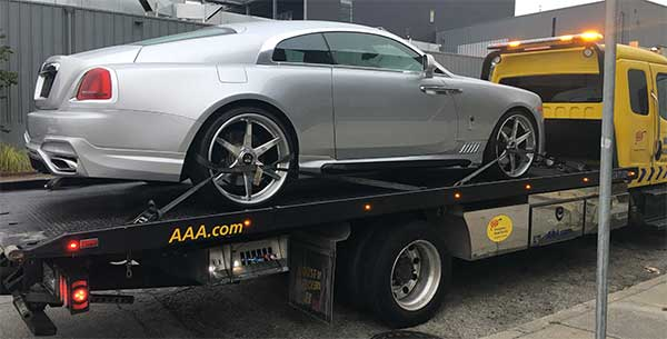 rolls royce wraith flatbed tow truck | San Francisco Bay Area Towing